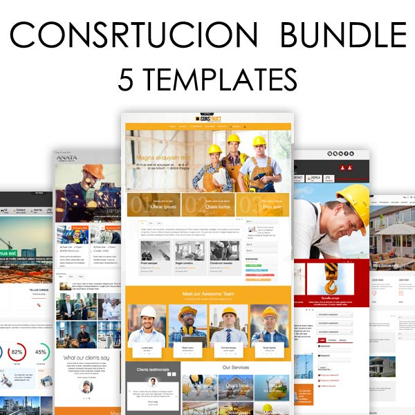 Construction Bundle Joomla Templates