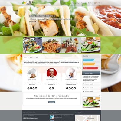Food & Restaurant Joomla Template