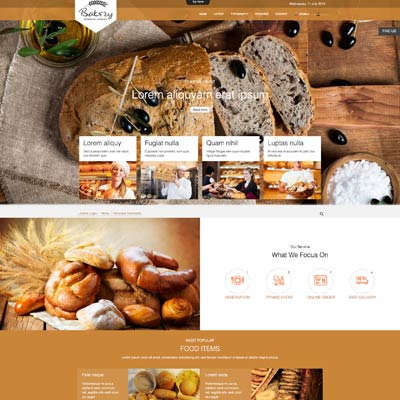 Cafe & Bakery Joomla Template