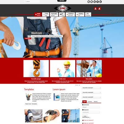 Construction joomla theme