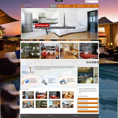 hotels joomla theme