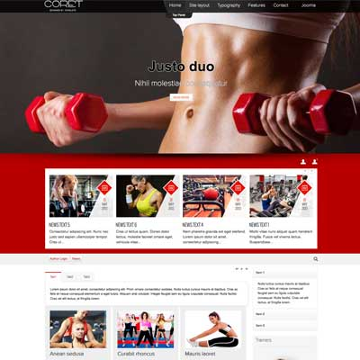 Gym & Fitness Joomla Template