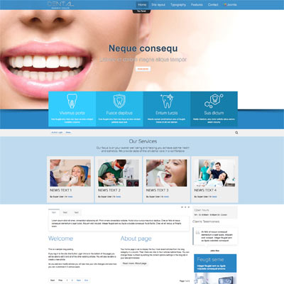 Medical & Dentist Joomla Template