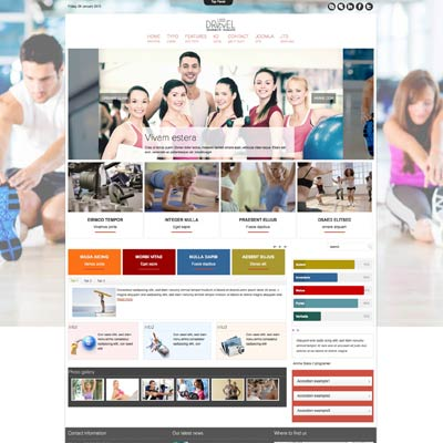 Fitness joomla theme