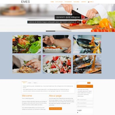 food joomla theme