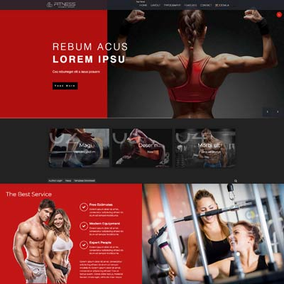 Fitness Joomla Template