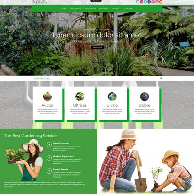 Gardening and Landscape Joomla Template