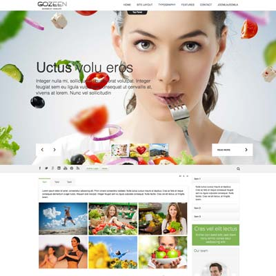 Healthy Lifestyle & Wellness Joomla Template