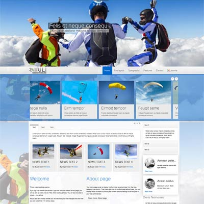 Skydiving Joomla Template