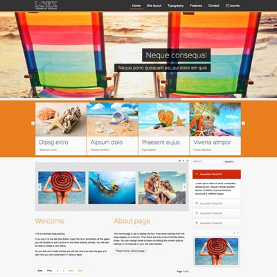 Tour joomla theme