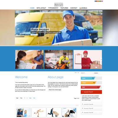 Services joomla template