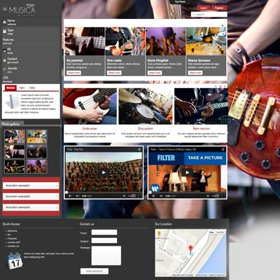 Music joomla theme