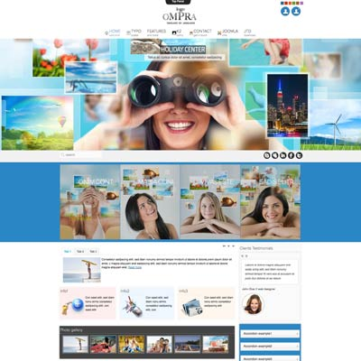 Holidays joomla template